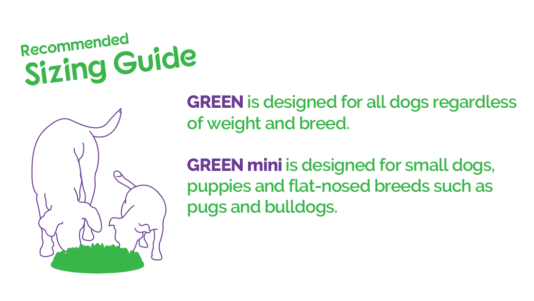 Size guide for the Green Feeders