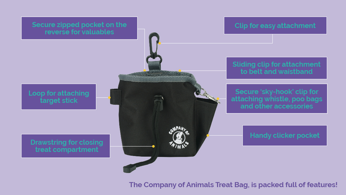 Features for the Company of Animals Treat Bag